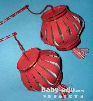 幼儿园教具制作:红灯笼